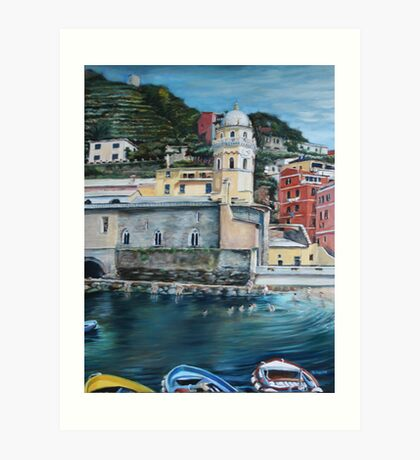 View of Vernazza Art Print