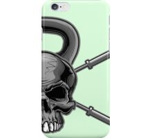 Kettlebell Crossed Barbells iPhone Case/Skin