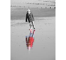 Reflections in the sand Photographic Print