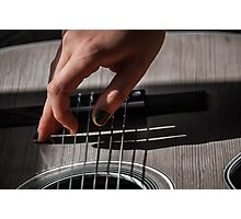 Fingerpicking Photographic Print