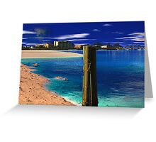 Tycho Beach - Sea of Tranquility. Greeting Card
