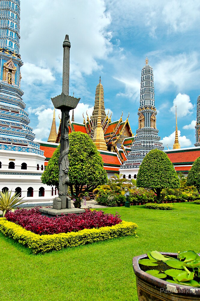 Blue Pagodas by Paul Clarke