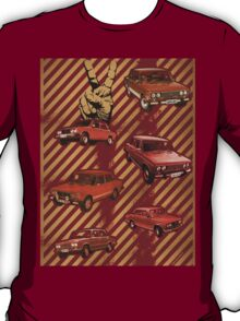 Red Car Retro T-Shirt
