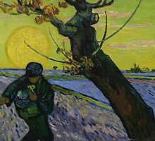 Vincent van Gogh - The Sower - 1888 by forthwith