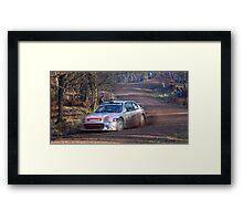 hyundai coupe rally car Framed Print