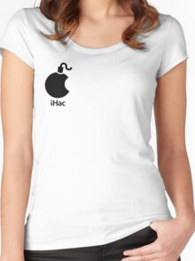 iHac(k) - Black Artwork Women's Fitted Scoop T-Shirt