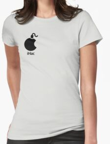 iHac(k) - Black Artwork Womens Fitted T-Shirt