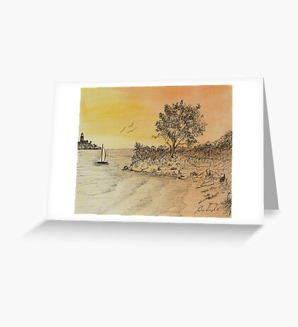 An Evening Sail Greeting Card