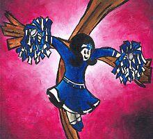 thalo blue cheerleader by Steven Carpenter