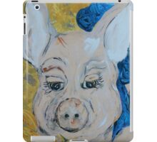 Blue Ribbon Pig iPad Case/Skin