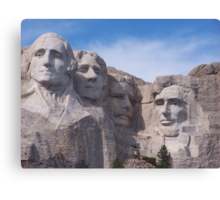 Mount Rushmore Up Close and Personal Canvas Print