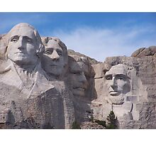 Mount Rushmore Up Close and Personal Photographic Print