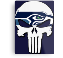 Seattle Seahawks Punisher Logo Metal Print