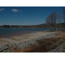 Striations on the Shore Line Photographic Print
