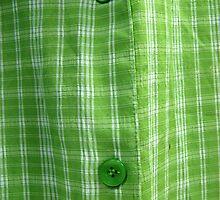 GREEN MAN SHIRT BUTTON  by SofiaYoushi