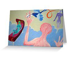 Beaks as scissors  Greeting Card