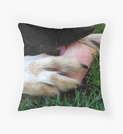 DOG LICK BONE Throw Pillow
