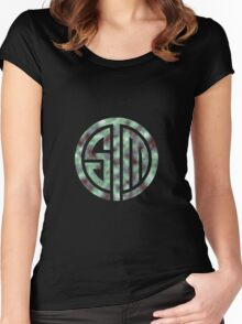 TSM Cloudy Green Sea Women's Fitted Scoop T-Shirt