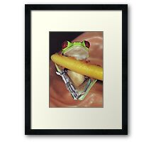 Nano Prosthetics for Kermit Framed Print