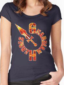 Guardian Heroes (Sega Saturn) Title Screen Women's Fitted Scoop T-Shirt