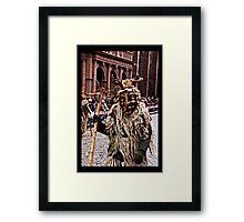 Wild Man Framed Print