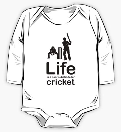 Cricket v Life - Black Graphic One Piece - Long Sleeve