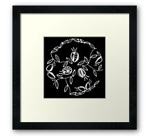 Tulips in a circle - Inverted Framed Print