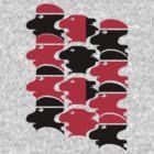 Tesselation faces by goanna