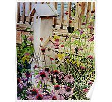 Backyard Birdhouse Condo Poster