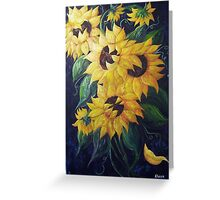 Dancing Sunflowers Greeting Card