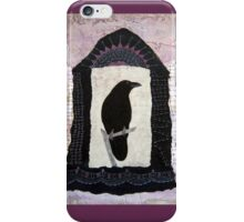 "Raven, ""Waiting for Dawn"", Mixed media Collage iPhone Case/Skin"