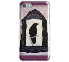"""Raven, """"Waiting for Dawn"""", Mixed media Collage iPhone Case/Skin"""