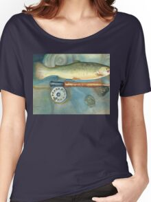 BROWN TROUT Women's Relaxed Fit T-Shirt