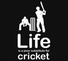 Cricket v Life - White Graphic Kids Tee
