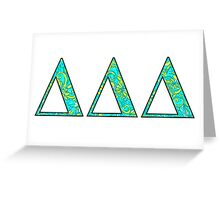 Tri Delt Lilly Letters Greeting Card