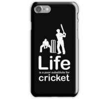 Cricket v Life - White Graphic iPhone Case/Skin