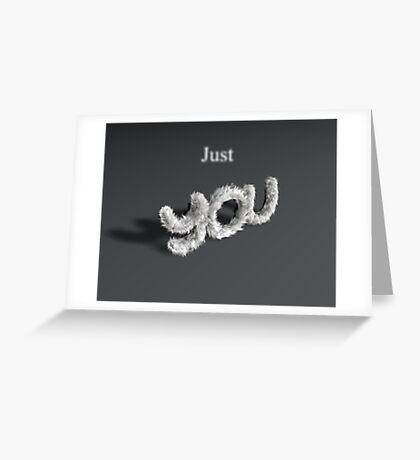 Just Fur #1 Greeting Card
