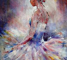 Ballet Dancer Contemplating by Ballet Dance-Artist