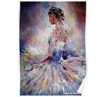 Ballet Dancer Contemplating Poster