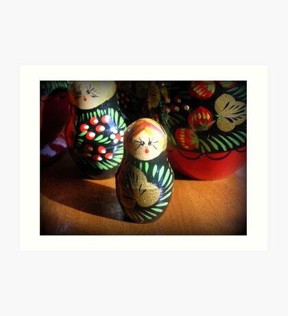 Nesting Dolls  Art Print