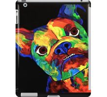 Painted Multi Colour British Bulldog iPad Case/Skin