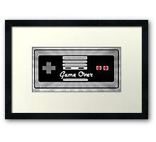 Nintendo Controller Game Over Framed Print