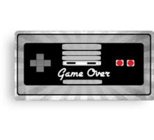 Nintendo Controller Game Over Canvas Print