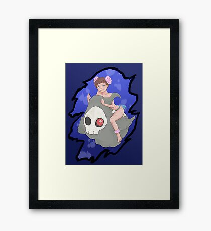 """Hahaha! I'm Phoebe of the Elite Four!"" Framed Print"