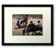 Plaza Shine Framed Print