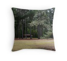 The Old Cricket Pitch - Hollybank Forest Reserve Throw Pillow