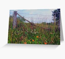 WV fence Greeting Card