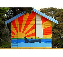 Sunshine Boat House  Photographic Print