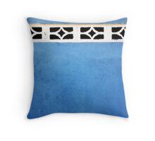 Blue Crypt Throw Pillow