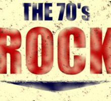 Keep The 70's Rock Alive Vintage Sticker